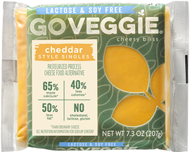 Lactose & Soy Free Cheddar Singles