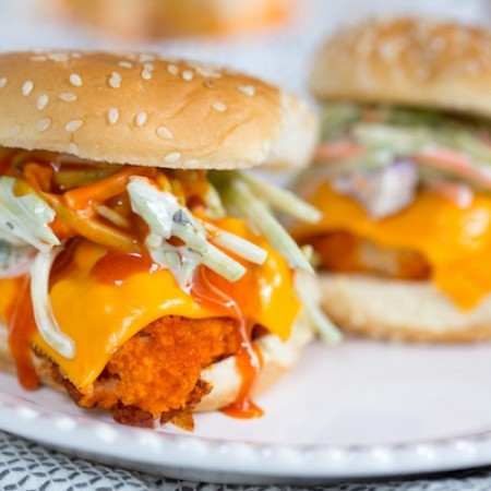 Buffalo Cauliflower Sliders