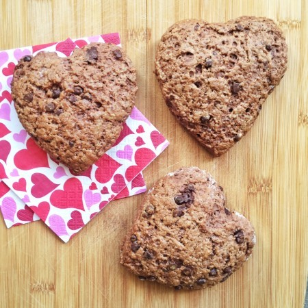 Chocolate Cream Cheese Scone Hearts