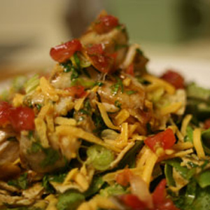 Grilled Fish Taco Salad with GO Veggie! Lactose Free Cheddar Shreds