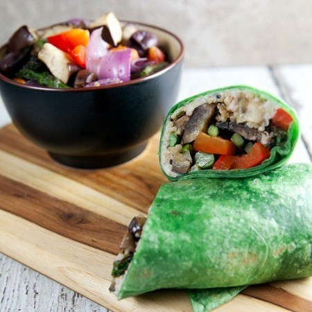 Roasted Vegetable Wraps With Creamy Rosemary Spread