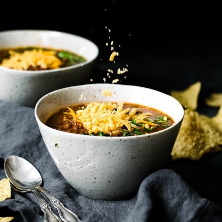 Slow Cooker Lentil Taco Soup