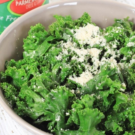 Sauteed Kale with Parmesan