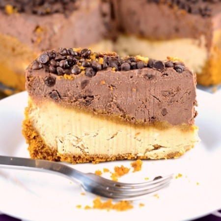 No-Bake Peanut Butter and Chocolate Cheesecake