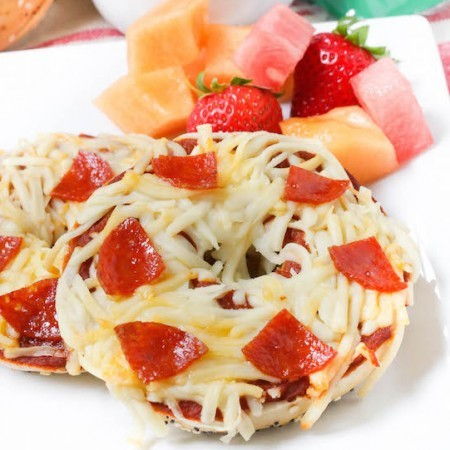 Pepperoni Pizza Bagels