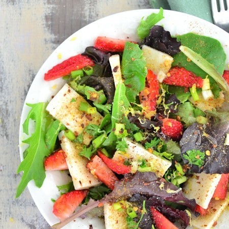 Pumpkin Seed, Mozzarella & Strawberry Salad