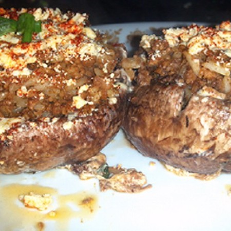 Grilled Stuffed Mushrooms