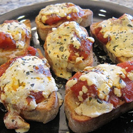 Cheesy Vegan Bruschetta