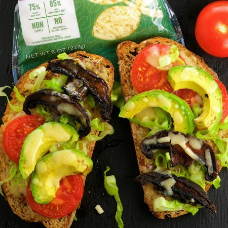 Open Faced BLT Grilled Cheese