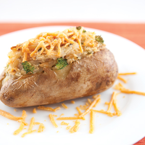 Twice-Baked Potatoes with a Broccoli and Cheese Filling (gluten-free)